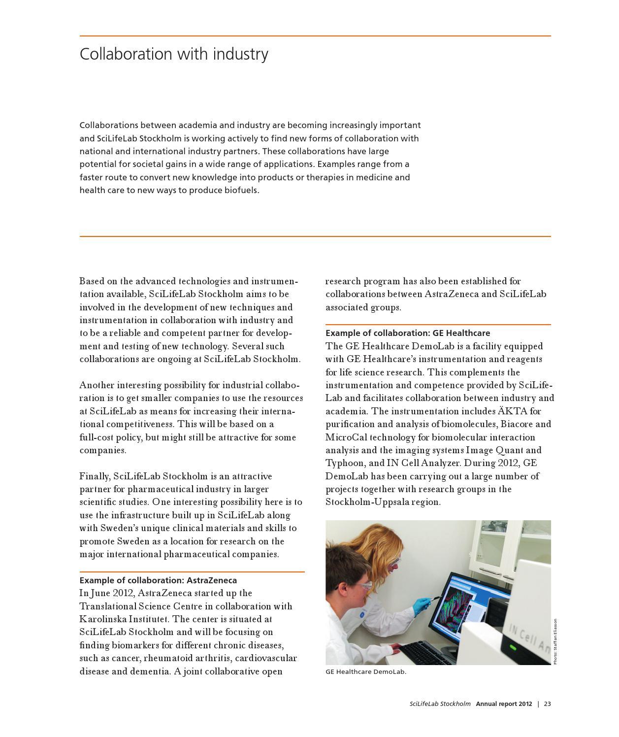 Annual Report 2012 – SciLifeLab Stockholm (English) by SciLifeLab