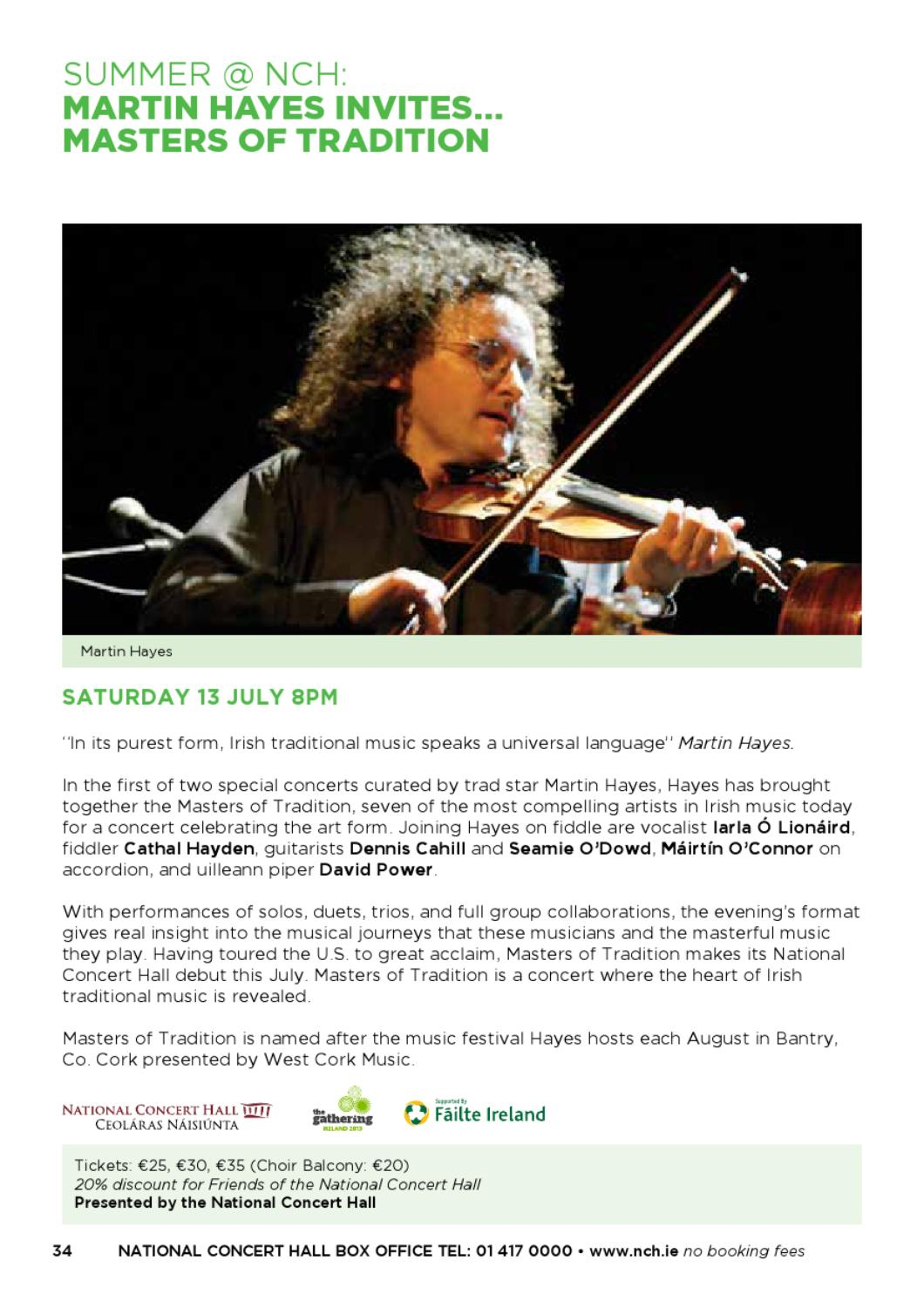 June - August Calendar of Events 2013 by National Concert