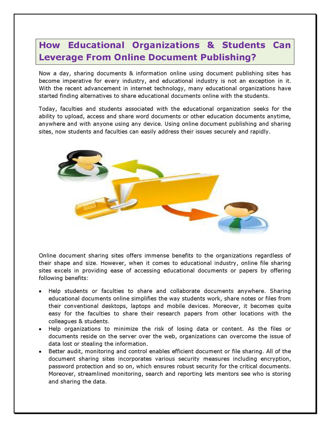 share papers online