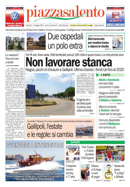 Miragica Calendario 2020.Piazzasalento N8 By Lucio Colavero Issuu