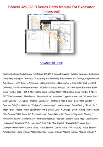 bobcat 324 parts manual pdf