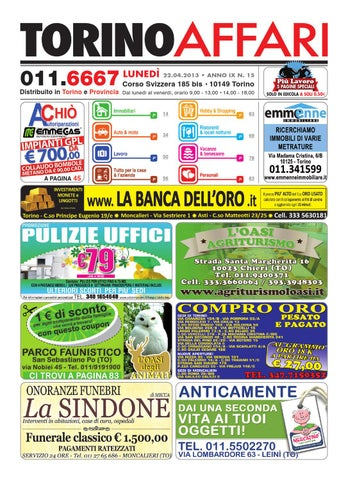9bb6795023 Torino Affari del 22/04/2013 by Maura Benassi - issuu