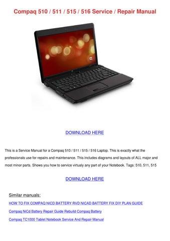 compaq 510 511 515 516 service repair manual by retta marmon issuu rh issuu com compaq 610-615 service manual.pdf compaq 610 service manual pdf