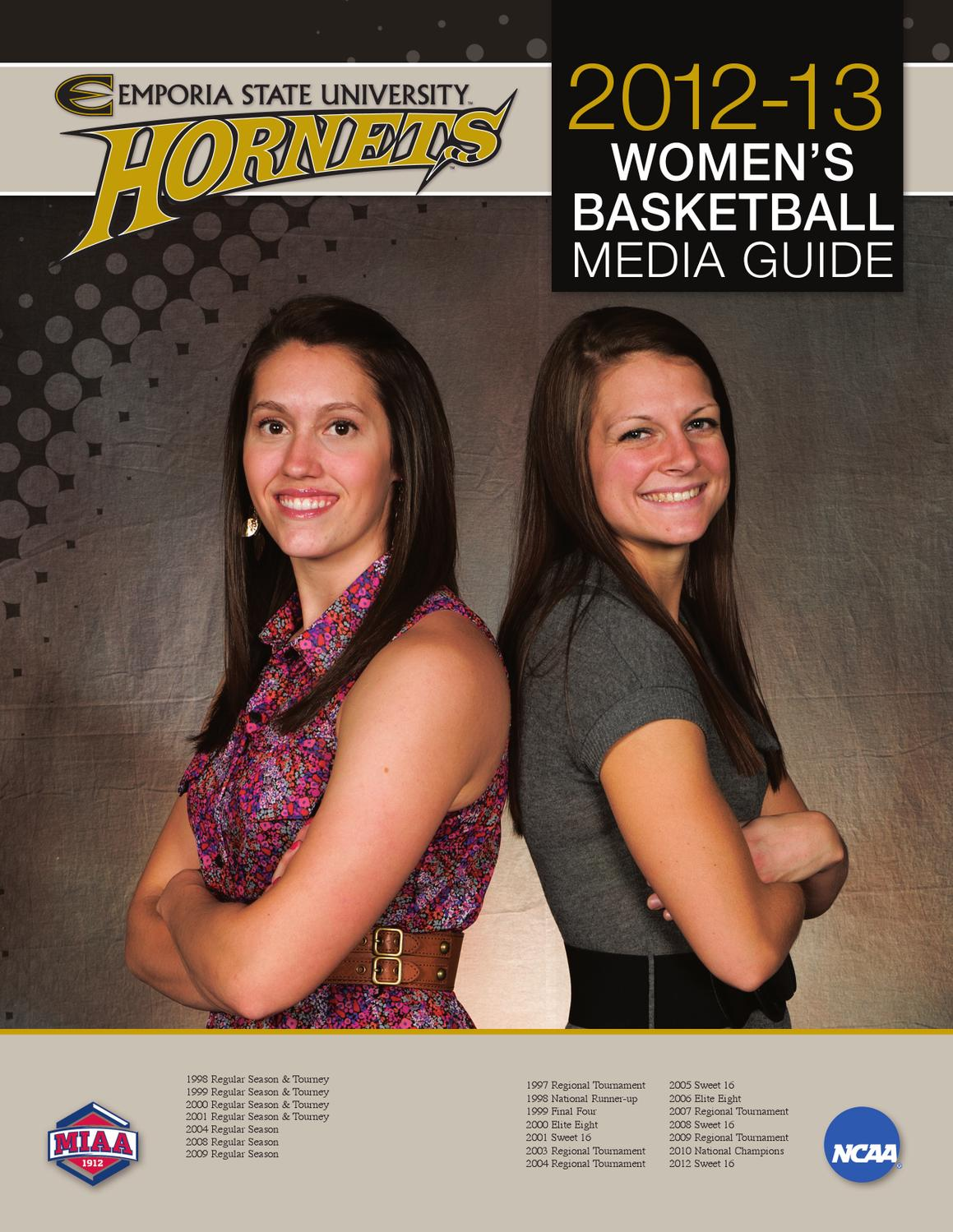 2012 13 Lady Hornet Basketball Media Guide By Don Weast