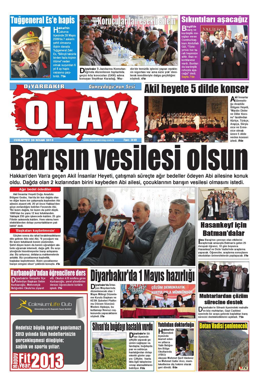 20 04 2013 Gazete Sayfalari By Diyarbakir Olaygazetesi Issuu