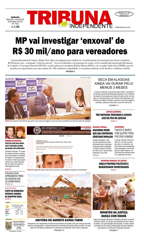 db31afb7992 Edição número 1723 - 20 de abril de 2013 by Tribuna Hoje - issuu