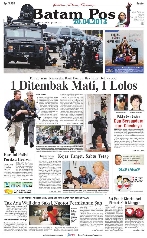 20 April 2013 By Batampos Newspaper Issuu