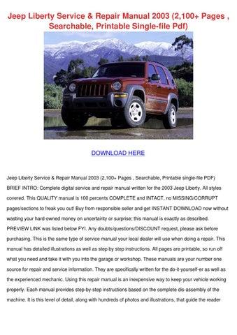 Jeep Liberty Service Repair Manual 2003 2100 by Saturnina Bralley ...