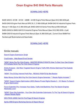 Onan Engine B43 B48 Parts Manuals by Therese Kibler - issuu