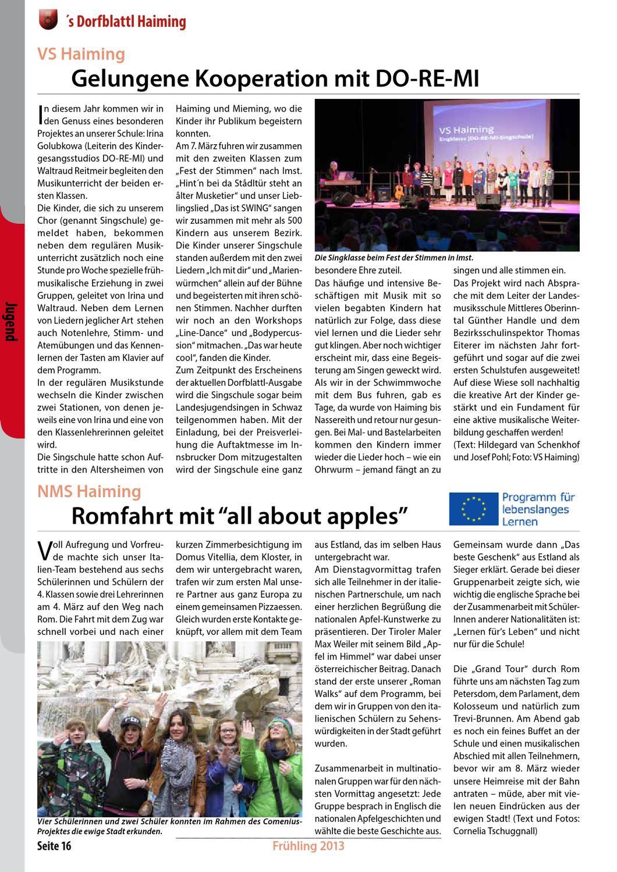 Die Geschichte unserer Gemeinde - Haiming - Dorfblattl