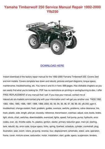 yamaha timberwolf 250 service manual repair 1 by sharee timoteo issuu rh issuu com yamaha timberwolf 250 manual pdf yamaha timberwolf 250 manual pdf