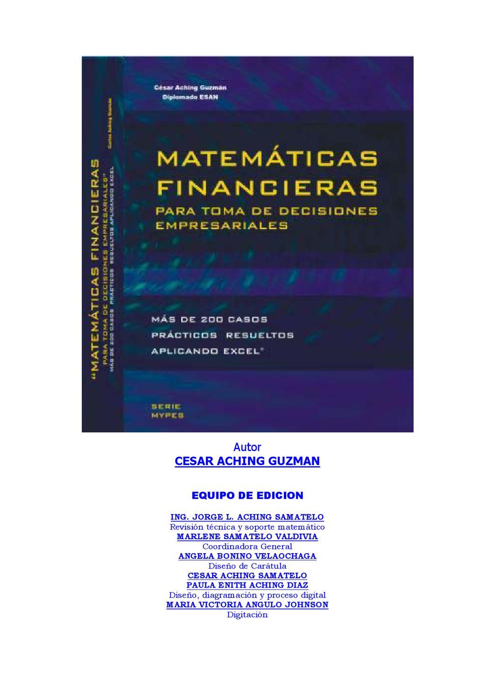 Matemáticas Financieras by Cristhian Eduardo Castro Espinoza - issuu
