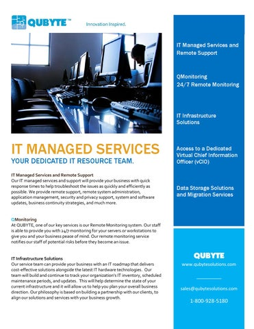 By It Brochure Bulcao Josh Managed Qubyte Solutions Services Issuu -