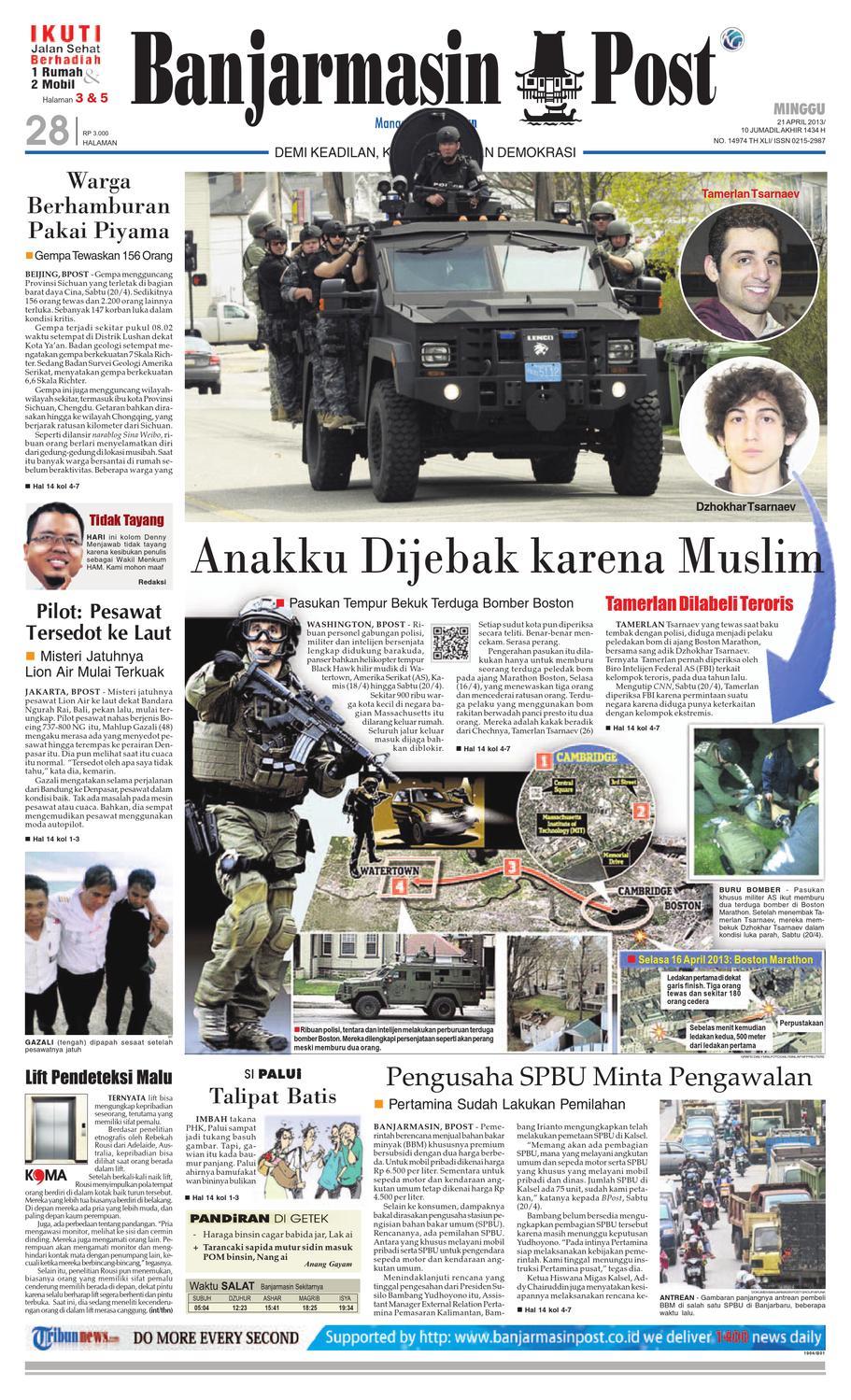 Banjarmasin Post Edisi Minggu 21 April 2013 By Issuu Produk Ukm Bumn Barbekyu Kelitik Surabaya