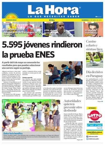 cfd6886110c5c Diario La Hora El Oro 21 de Abril 2013 by Diario La Hora Ecuador - issuu