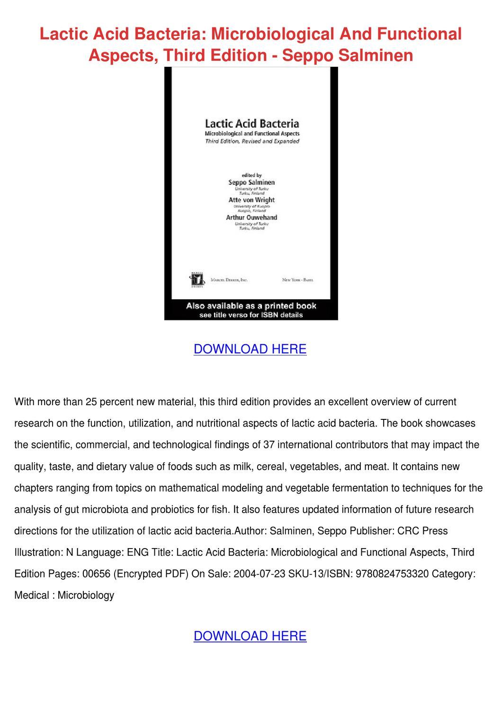 Lactic Acid Bacteria Ebook