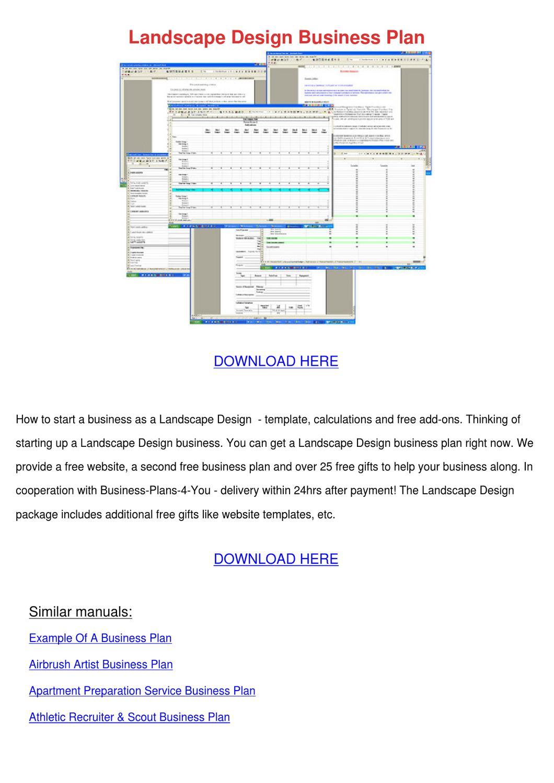 landscape design business plan by sherice lasala issuu