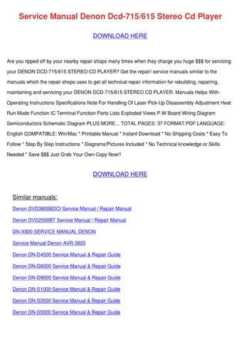 denon dn d4500 service manual repair guide