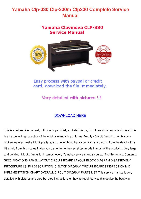 Yamaha Clp 330 Clp 330m Clp330 Complete Servi by Rave Caram - issuu