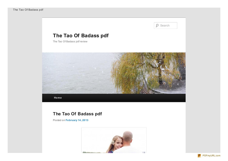 The Tao Badass System Pdf