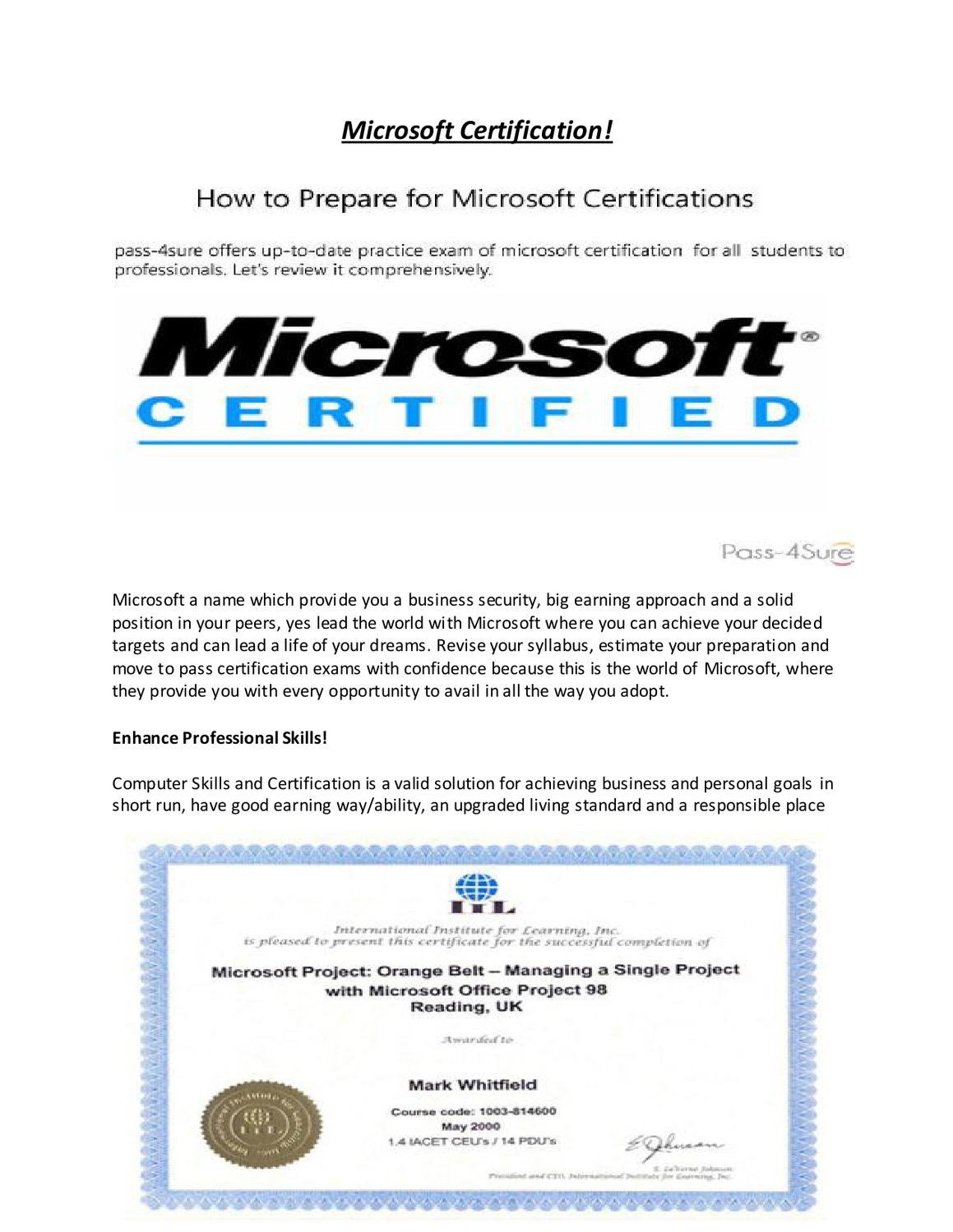 Microsoft Certification Exam By Pass 4sure By Sidra Sadaf Issuu