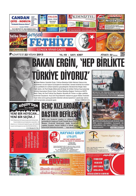 22 Nisan Gazetesi By Gercek Fethiye Issuu