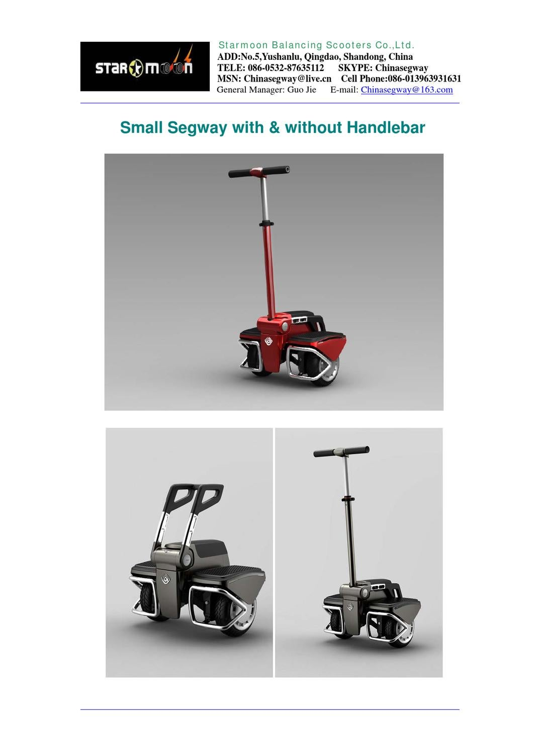 Small Segway With Amp Without Handlebar By Guo Jie Issuu