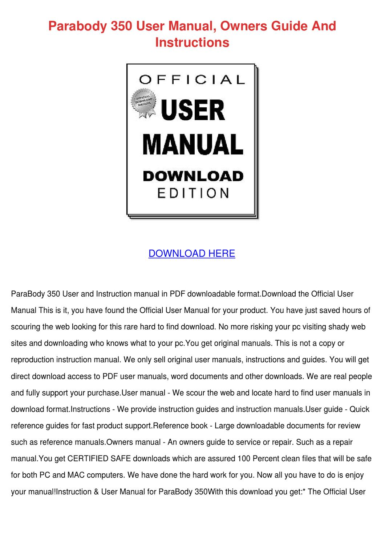 Morphy richards user manual