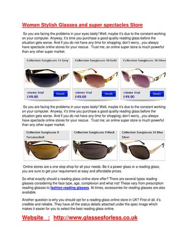 140485f9bb Women Stylish Glasses and super spectacles Store So you are facing the  problems in your eyes lately! Well