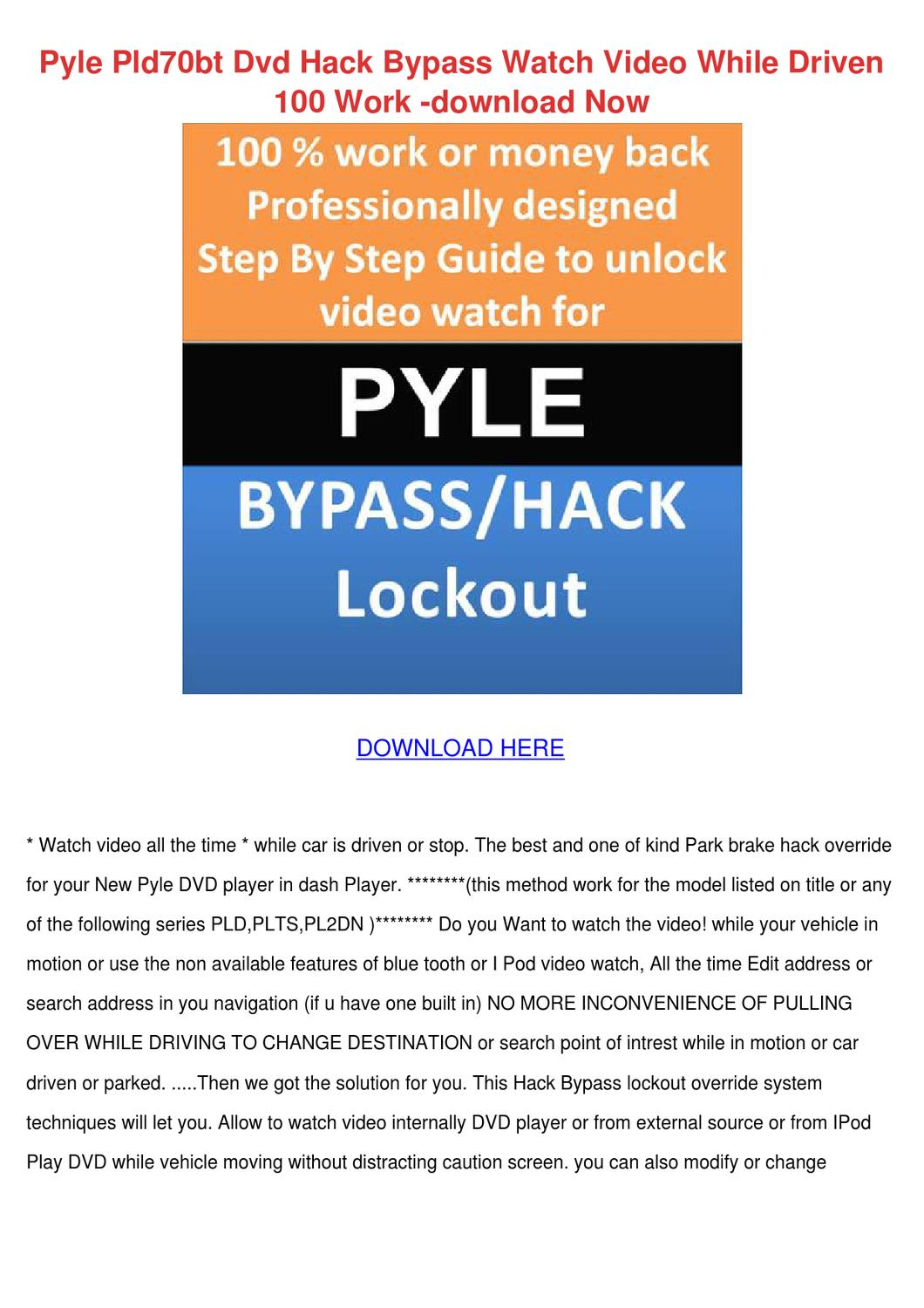 Pyle pld70bt dvd hack bypass watch video whil by patricia dimuccio pyle pld70bt dvd hack bypass watch video whil by patricia dimuccio issuu publicscrutiny Gallery