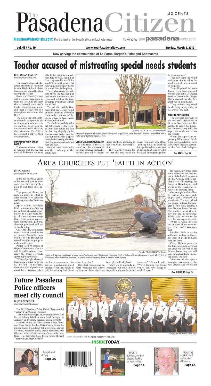 The Pasadena Citizen, Gen Ex, March 4, 2012 by Texas Press