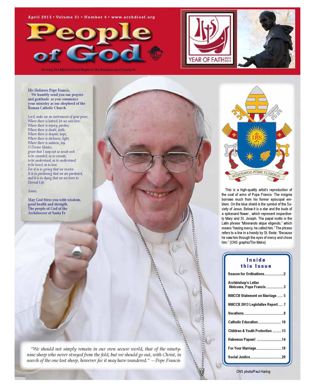 People of God, April 2013