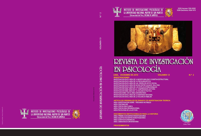 Revista de investigacin en psicologia by libio huaroto issuu fandeluxe Gallery