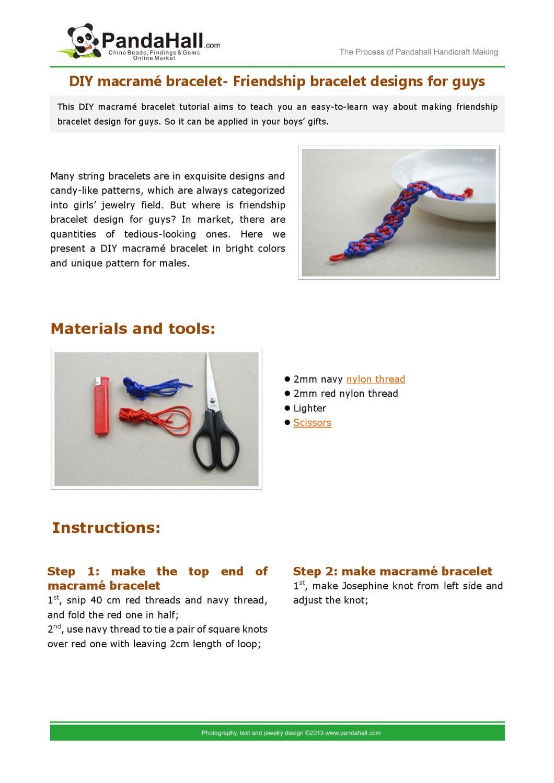 Diy Macram Bracelet Friendship Designs For Guys By Mike Square Knot Diagram Stone Issuu