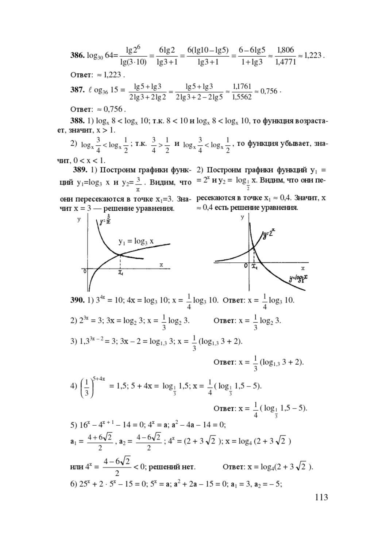 алгебра алимов 10 11 кл решебник
