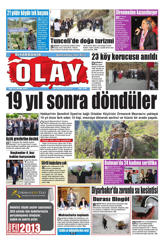 23 04 2013 Gazete Sayfalari By Diyarbakir Olaygazetesi Issuu
