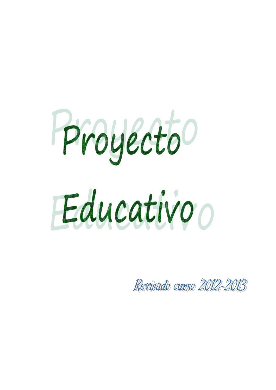 Proyecto Educativo Ceip Ntra Sra Del Carmen By Colegio El Carmen  # Muebles Mebol Lucena