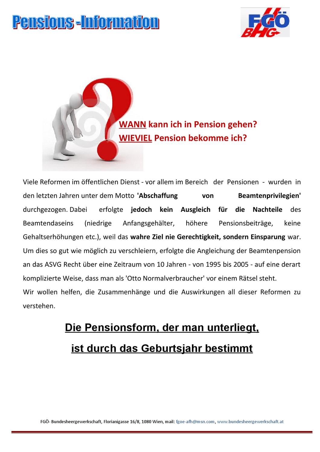 Beamtenpension