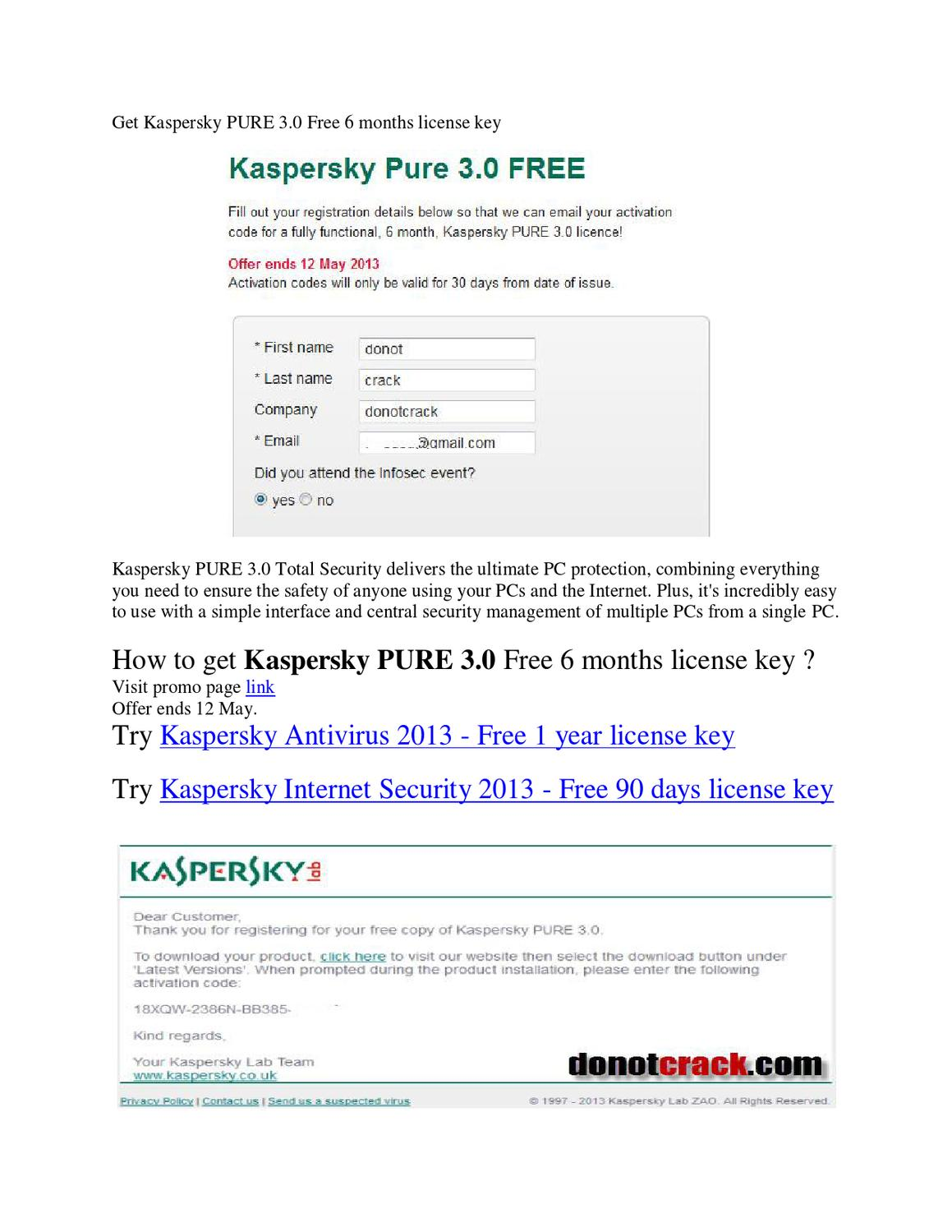 kaspersky internet security 2013 activation code free