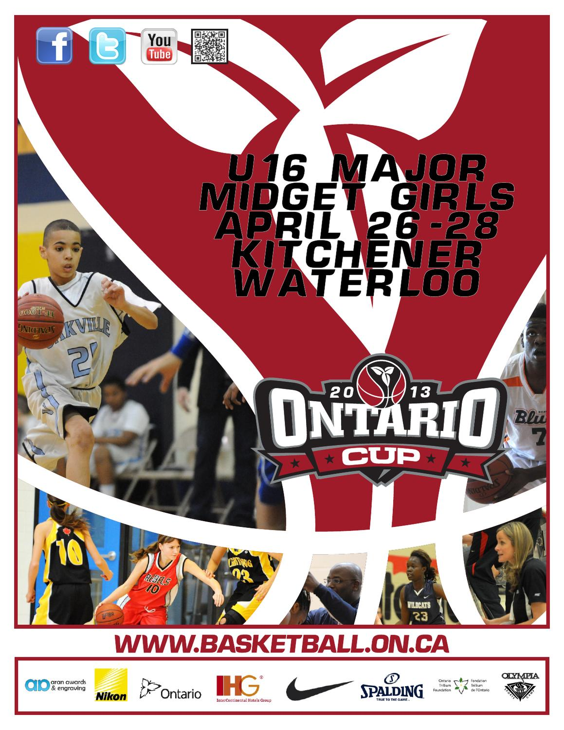 U16 Major Midget Girlontario Cup Programme By Jason