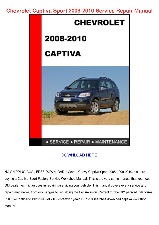 Chevrolet Captiva Sport 2008 2010 Service Rep by Lavonda Alcivar ...