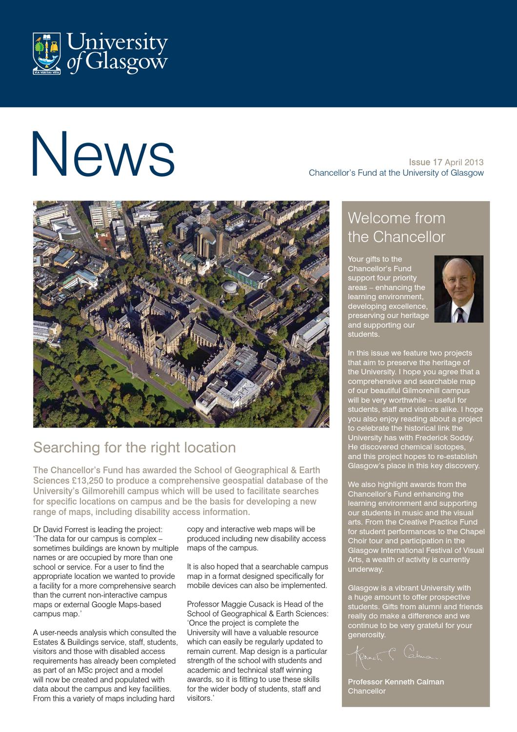 Iuk Campus Map.Chancellor S Fund Newsletter Issue 17 By University Of Glasgow Issuu