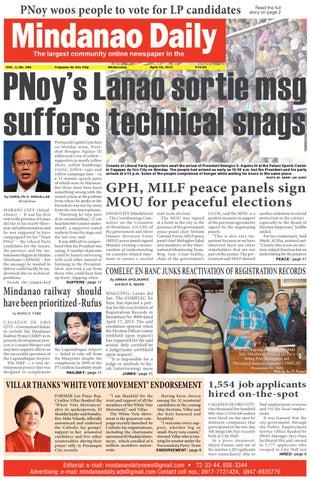 Mindanao Daily News (April 24, 2013 Issue) by Mindanao Daily