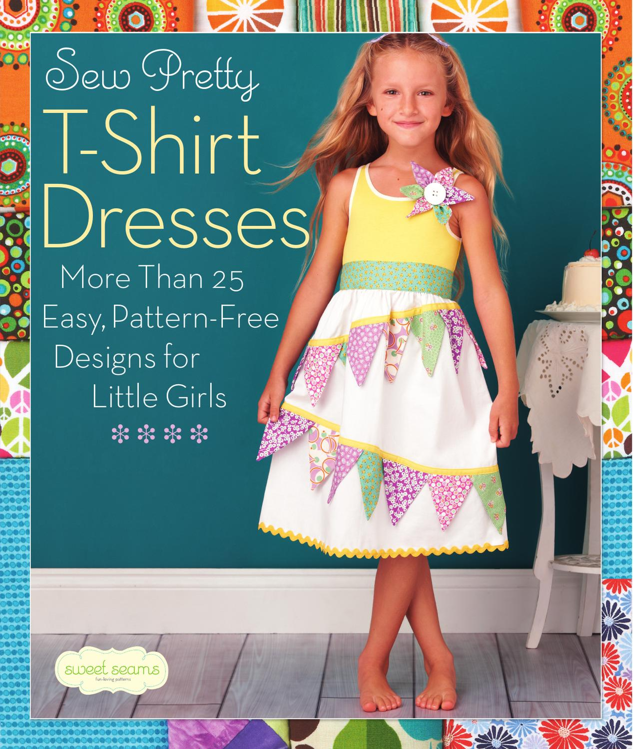 Sew pretty t shirt dresses more than 25 easy pattern for Easy to make t shirt dress