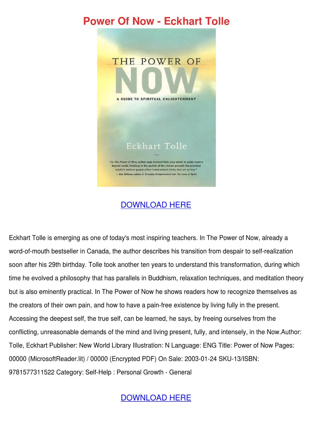 Eckhart Toll - The Power of Now