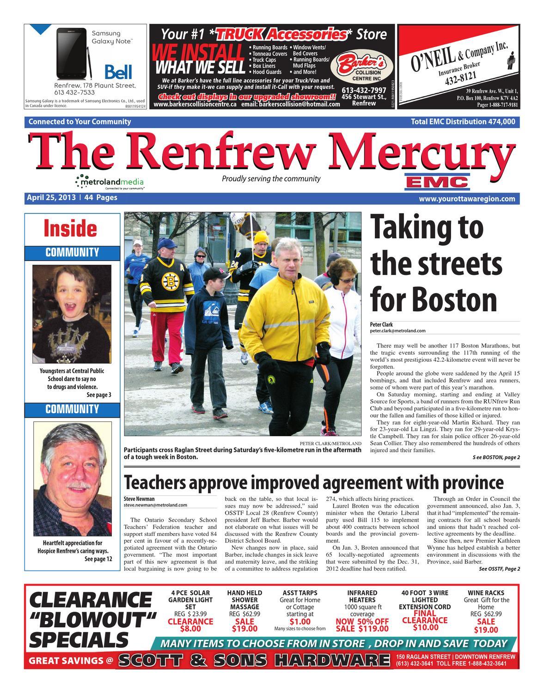 Renfrew Mercury By Metroland East Issuu 20131 7 Pin Wiring Harness