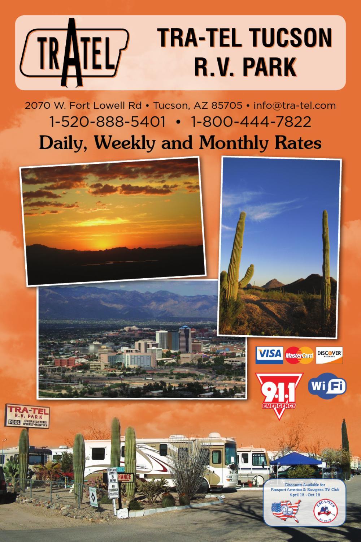 Tra Tel Tucson Rv Park By Ags Texas Advertising Issuu