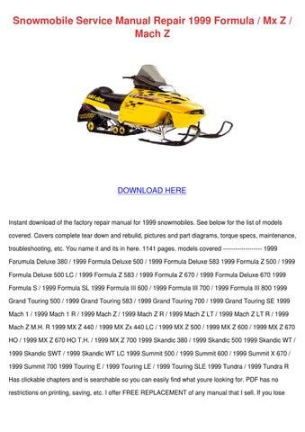 ski doo grand touring 583 1998 pdf