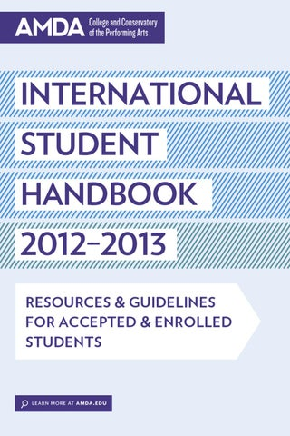 AMDA International Student Handbook by AMDA - issuu