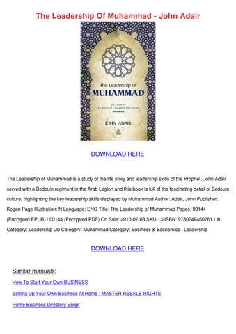 Adair of pdf the muhammad leadership john